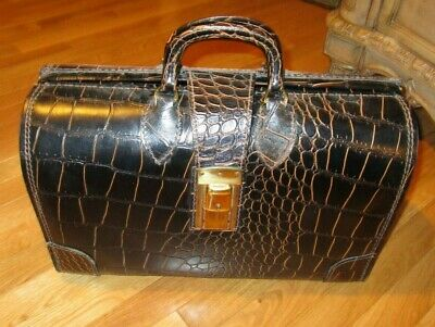 $299.99 • Buy PERFECT! 1920's Vintage Leather Briefcase Doctor Attache Bag Genuine Germany