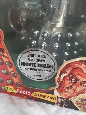 £300 • Buy Dr Who 12  RC Movie Dalek SILVER CHROME Product Enterprise RARE Limited Edition