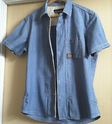 £10 • Buy Men's Duck And Cover Short Sleeved Denim Shirt Size XL