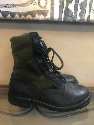 $69.99 • Buy Original Germany Army Tropical Boots BALTES Black OD Green Surplus 41
