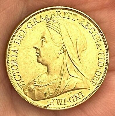 £0.99 • Buy 1898 Queen Victoria Old Head Sovereign ~ Gold Plated Coin