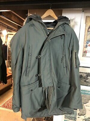$50 • Buy Vintage Military N-3B Extreme Cold Weather Parka Hooded COAT Mens Size (L) USAS