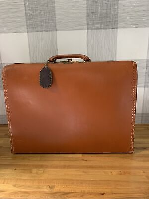 $75 • Buy Vintage Snapak By Schell Brown Belting Leather Lawyer Doctor Briefcase