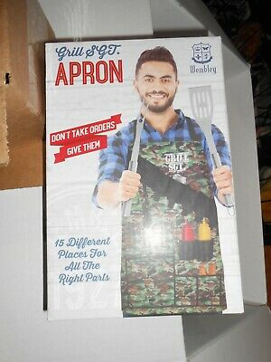 $7.99 • Buy Men's GRILL SGT. Camo Apron NWT Great Gift