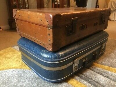 £19.50 • Buy Two Vintage Retro Suitcases Luggage 1960s & 1930s / 1940s Oxfordshire.