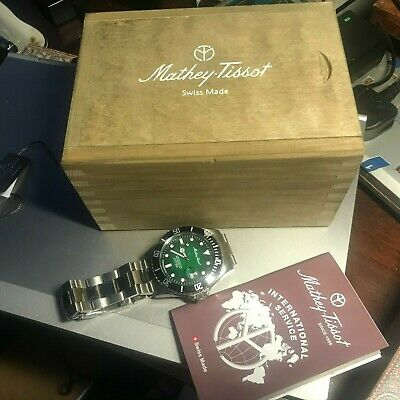 £400 • Buy Mathey -Tissot Gents Ltd Edition  1886 Rolly Tiger Automatic Watch 30ATM