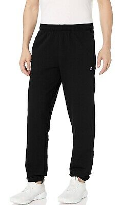 $15 • Buy NWT, Champion Men's Powerblend Relaxed Elastic Bottom Joggers, Black, S