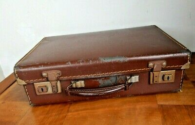 £15 • Buy Small Vintage Suitcase Childs Suitcase Brown 1940s/50s Display Prop 14in No Keys