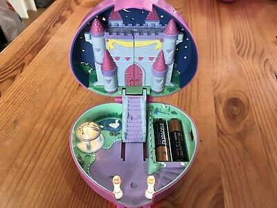 £11 • Buy Polly Pocket 1992 Pink Star Light Up Castle, Horse And Cart, 1 Figure