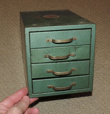 $29.50 • Buy Vintage WARDS MASTER QUALITY Metal 4 Drawer Parts Cabinet Machinist Tool Box