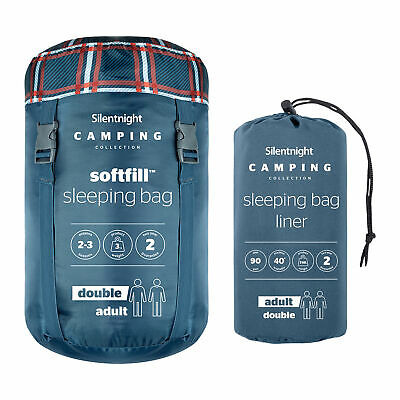 £69.99 • Buy Silentnight Camping Sleeping Bag Adult Single Double With Liner Bundle Holiday