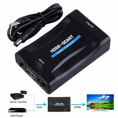 £8.28 • Buy SCART To HDMI 1080P Video Audio Composite Scaler Adapter Converter For DVD TV
