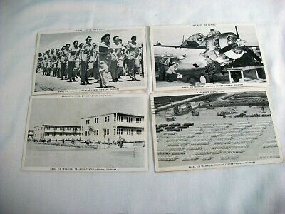 $15 • Buy Lot Of 4 Vintage Photograph Postcards, Naval Air Training Center, Oklahoma, WWII