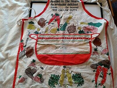 £4.99 • Buy Vintage Apron For Fabric - Vegetables 1970s