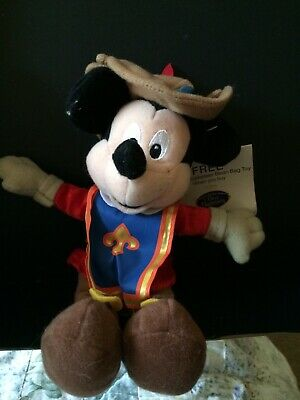"""£4 • Buy Mickey Mouse Musketeer Promotional Bean Bag Toy 8"""""""
