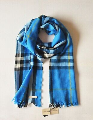 $239.70 • Buy Authentic BNWT BURBERRY Giant Check Lightweight Cashmere/Wool Mens/Womens Scarf