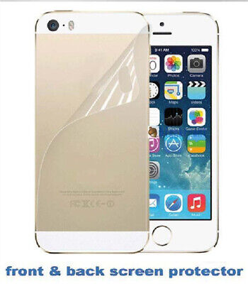 AU1.26 • Buy 3X Front+Back Screen Protector Ultra Film HD Clear LCD Guard For IPhone 5 5G 5S
