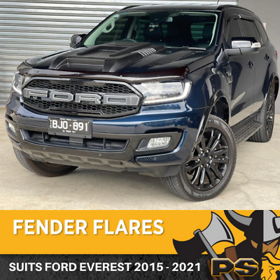 AU279 • Buy Ps4x4 Ford Everest 2015-2021 Slim Matte Flares Off Road Guards Front Rear
