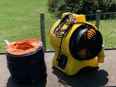 £125 • Buy Commercial 110v 8  200mm Air Mover Fume Extractor Fan Blower & 7m Duct