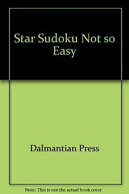 £100.99 • Buy Star Sudoku Not So Easy By Dalmantian Press Book The Cheap Fast Free Post