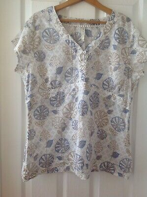 £0.99 • Buy Ladies Cap Sleeve Top By WEIRD FISH. Size 18. 100% Cotton. Exc. Condition