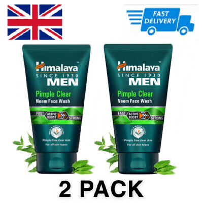 £12.99 • Buy 2 PACK Himalaya Pimple Clear Neem & Natural Salicylic Acne Face Wash 100ml X2 UK