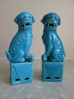 £29.99 • Buy Antique / Vintage Chinese Turquoise Dogs Of Foo  Fo