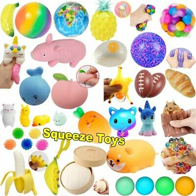 AU10.99 • Buy Decompression Anti Stress Relief Balls Squishy Toy Squeeze Toys Set Kids Adults