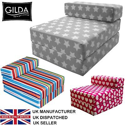 £33.99 • Buy Chair Bed Fold Out Futon Single Guest Folding Mattress Sofa Bed Gilda Chairbed