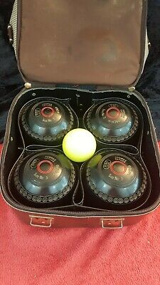 £95.47 • Buy VINTAGE BOWLS - 4 X Thomas Taylor Bowing Woods Size 3, Carry Bag & Jack