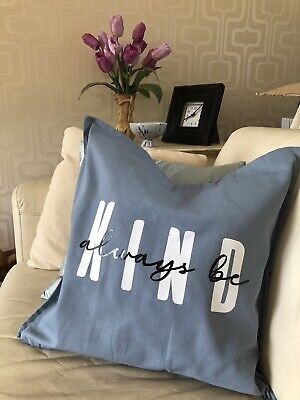 £10.50 • Buy Be Kind. Pillow. Cushion. Home. 100% Cotton. Love. Kindness. Quotes. Mindfulness