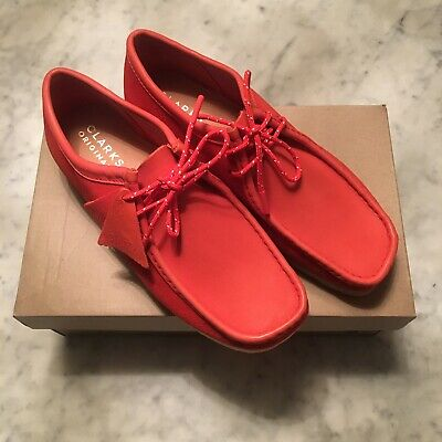 £90 • Buy Clarks Originals Wallabee UK 8.5 RED Suede/Leather STUNNING SHOES - Wallabees
