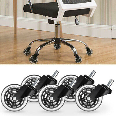 AU26.99 • Buy 5pcs Rollerblade Office Desk Chair Wheels Replacement Rolling Caster Mute NEW