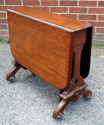 £125 • Buy Victorian Antique Solid Mahogany Sutherland Coffee Occasional Lamp Side Table