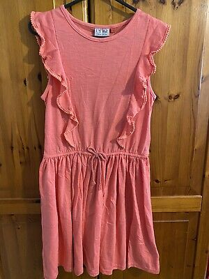 £7.50 • Buy Next Girls Coral Jersey Summer Dress Age 12 Years BNWT