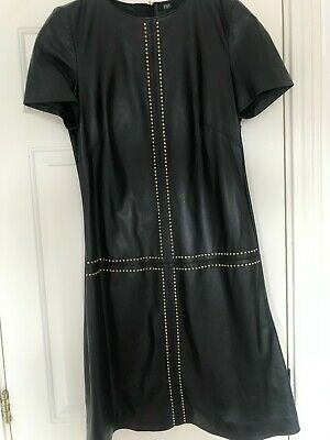£29.99 • Buy F&F Buttery Soft Real Leather Dress UK 12 With Rivets RRP £150
