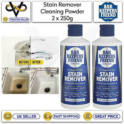 £7.95 • Buy 2x Bar Keepers Friend 250g Cleaning Powder Stain Remover & Multi-Surface Cleaner