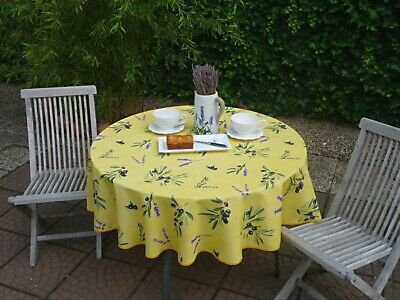 £20.79 • Buy Tablecloth Provence 180 CM Round Olives Yellow France Non-Iron Easy-Care