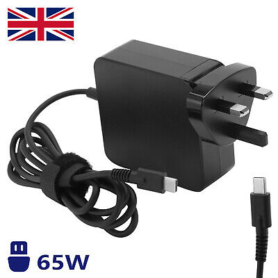 £13.59 • Buy Laptop Charger AC Adapter USB-C Type C For HP Lenovo Dell Toshiba Acer Asus 65W