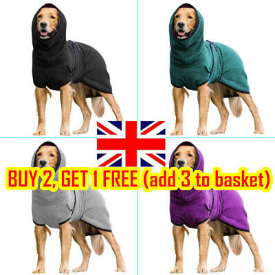 £11.89 • Buy Puppy Pets Dog Clothes Roll Neck Towelling Drying Bath Robe Coat Warmer Apparels