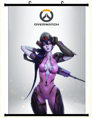 AU22.07 • Buy Overwatch Widowmaker Framed Poster With Hooks 24x36 INCH