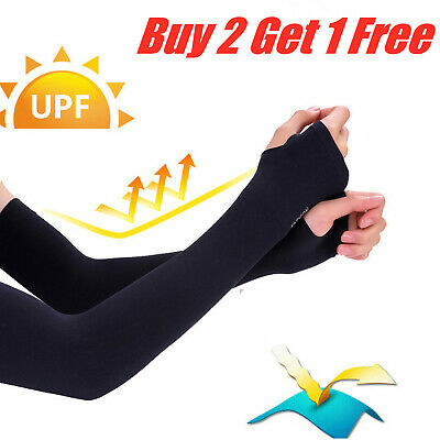 £3.41 • Buy Arm Sleeves Ice Silk For Summer Outdoors Sports UV Sun Protection Breathable UK