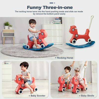 £33.99 • Buy 3 In 1 Baby Rocking HorseToy, Baby Stroller With Push Handle KIDS Birthday Gifts