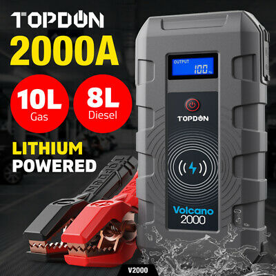 AU126.99 • Buy TOPDON Car Jump Starter Booster 12V Battery Charger Power Bank 2000A