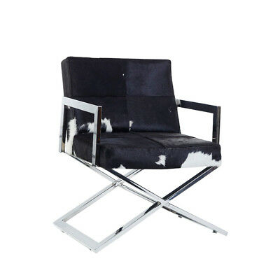AU7578.25 • Buy Black Hair-On Genuine Leather Upholstered Office Chair Set Of 6