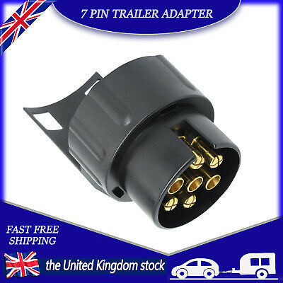 £5.99 • Buy 7 To 13 Pin Trailer Adapter Electrical Towing Truck Plug Converter Socket