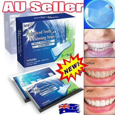AU10.93 • Buy 28 Professional Advanced Teeth Whitening Strips Tooth Bleaching White Strip DS