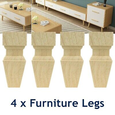 AU42 • Buy 4 X Wooden Furniture Legs Classic Feet Lounge Couch Sofa Cabinet Table Raw