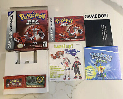 $475 • Buy Pokemon: Ruby (Game Boy Advance, GBA) Authentic Complete CIB All Inserts Manual