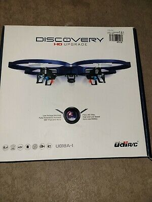 AU59.92 • Buy Discovery UDI U818A Camera Drone For Kids - HD With Beginners 720p RC